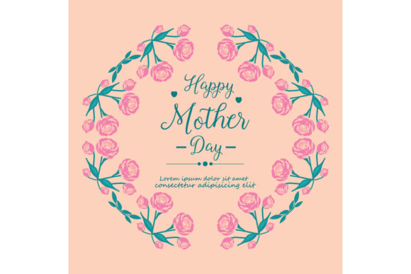 Happy Mother Day Invitation Card Graphic By Stockfloral