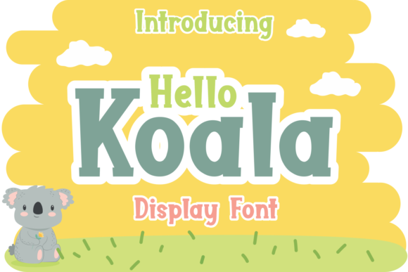 Print on Demand: Hello Koala Display Font By Kelik - 7NTypes