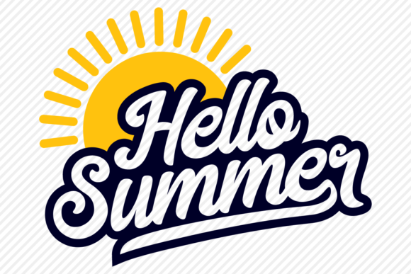 Download Free Hello Summer Shirt Design Graphic By Texassoutherncuts for Cricut Explore, Silhouette and other cutting machines.