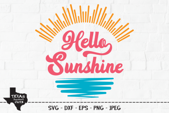 Download Free Hello Sunshine Summer Shirt Design Graphic By for Cricut Explore, Silhouette and other cutting machines.