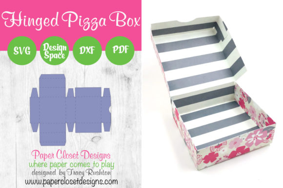 Download Free Hinged Pizza Box Graphic By Rushton Tracy Creative Fabrica for Cricut Explore, Silhouette and other cutting machines.