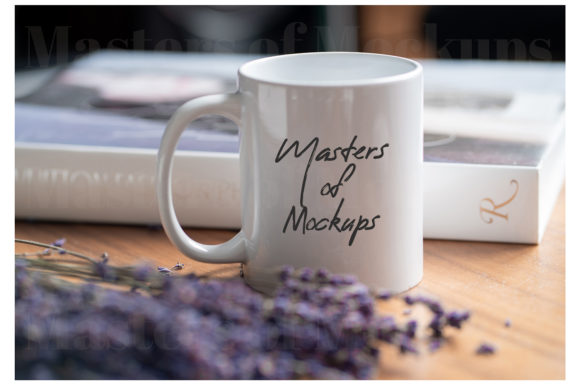 Hygge Lavender Mug Mockup, 11 Oz White Graphic Product Mockups By Masters of Mockups