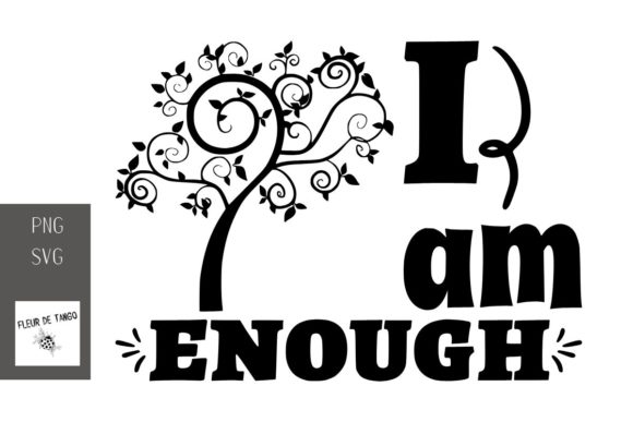 Print on Demand: I Am Enough Graphic Print Templates By Fleur de Tango