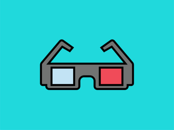 Download Free Icon 3d Glasses Full Color Outline Graphic By Meandmydate for Cricut Explore, Silhouette and other cutting machines.