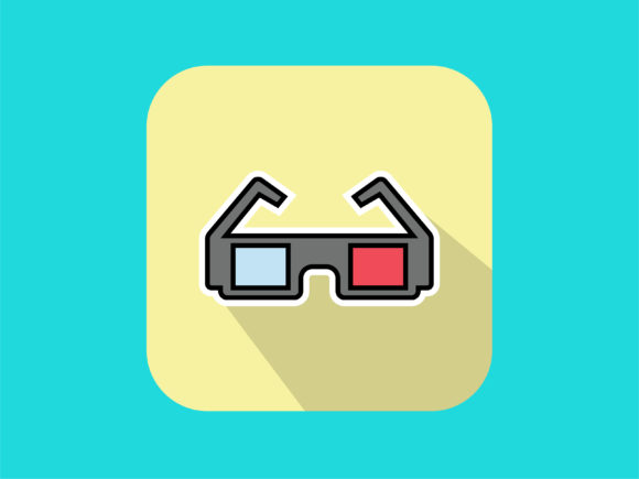 Download Free Icon 3d Glasses Modern Color Outline Graphic By Meandmydate for Cricut Explore, Silhouette and other cutting machines.