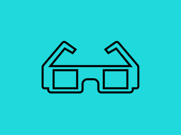 Download Free Icon 3d Glasses Outline Only Graphic By Meandmydate Creative for Cricut Explore, Silhouette and other cutting machines.