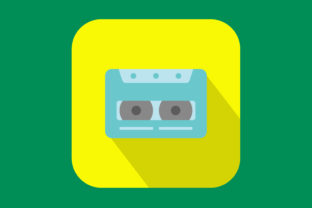 Print on Demand: Icon Cassette Tape Modern Color Graphic Icons By sailingshipstudio