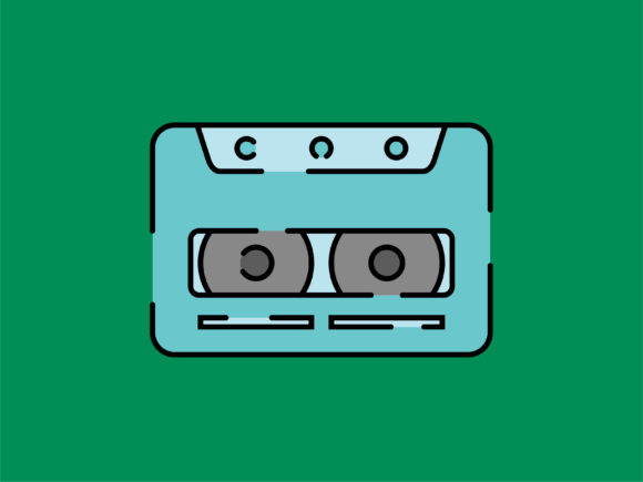 Download Free Icon Cassette Tape Striped Outline Graphic By Meandmydate for Cricut Explore, Silhouette and other cutting machines.