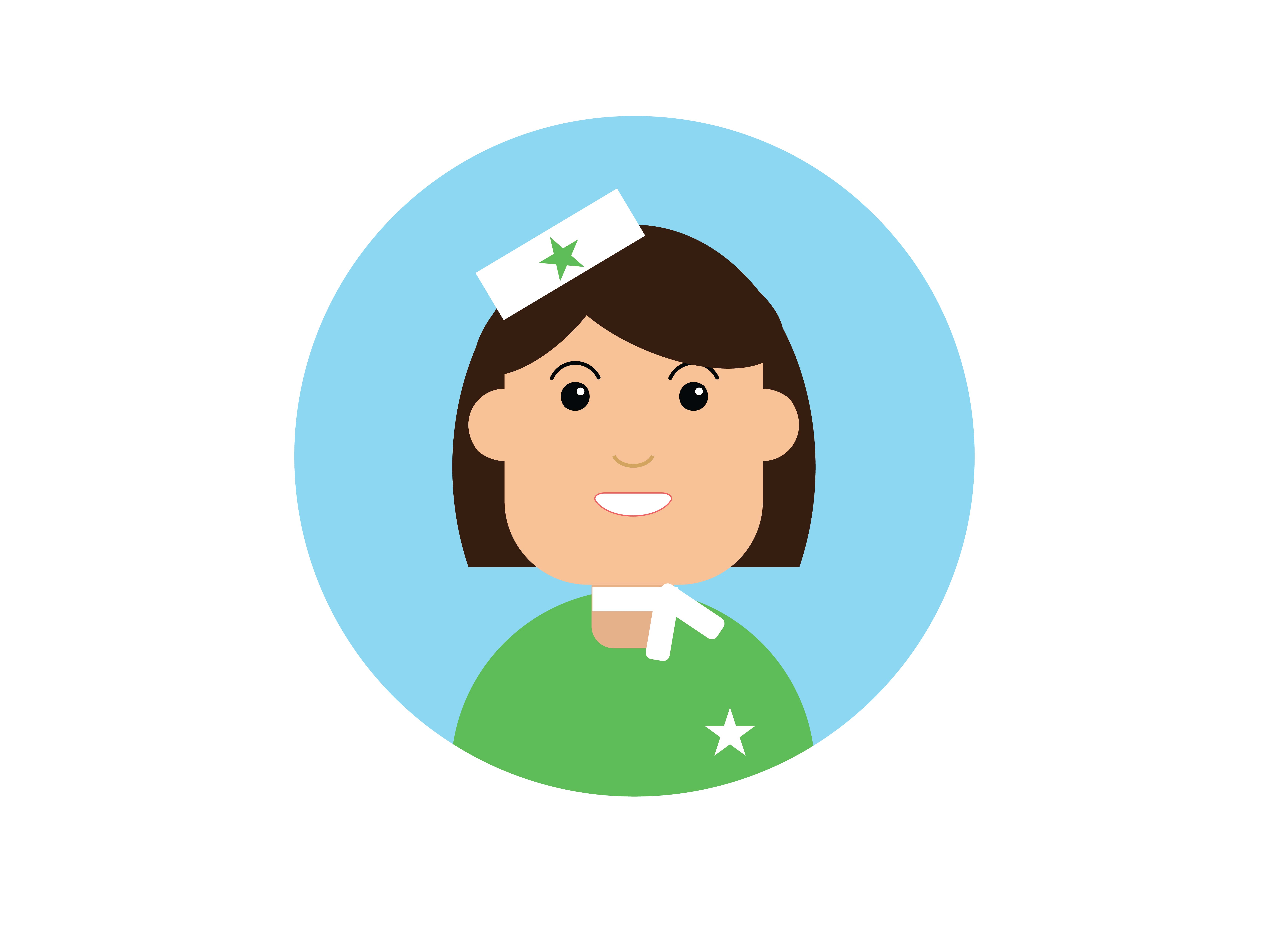 Download Free Icon Character Flight Attendant Green Graphic By Vectorceratops for Cricut Explore, Silhouette and other cutting machines.