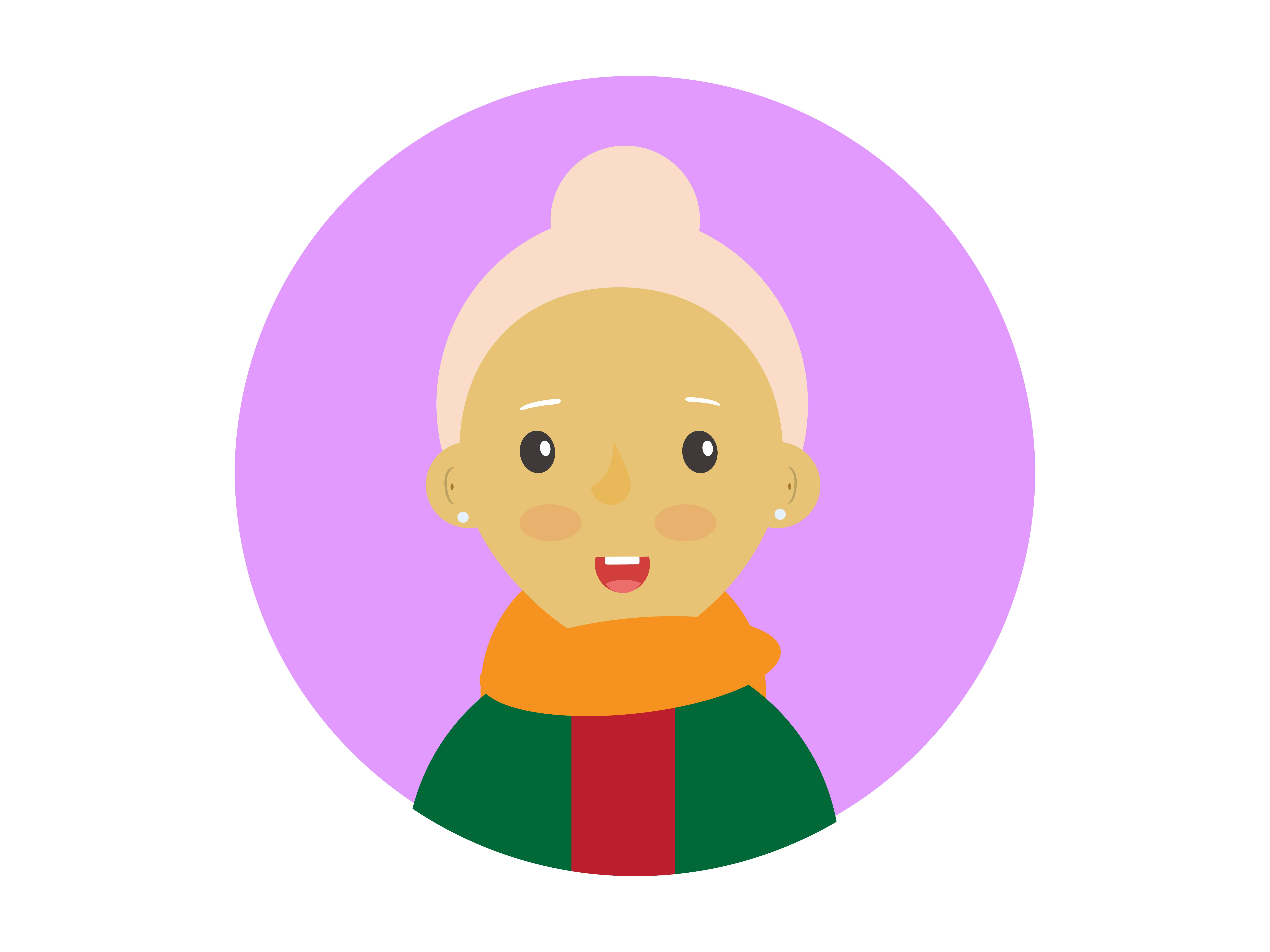 Download Free Icon Character Grandmother With Scarf Graphic By Vectorceratops Creative Fabrica for Cricut Explore, Silhouette and other cutting machines.