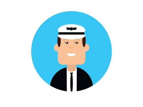 Download Free Icon Character Train Conductor Graphic By Vectorceratops for Cricut Explore, Silhouette and other cutting machines.
