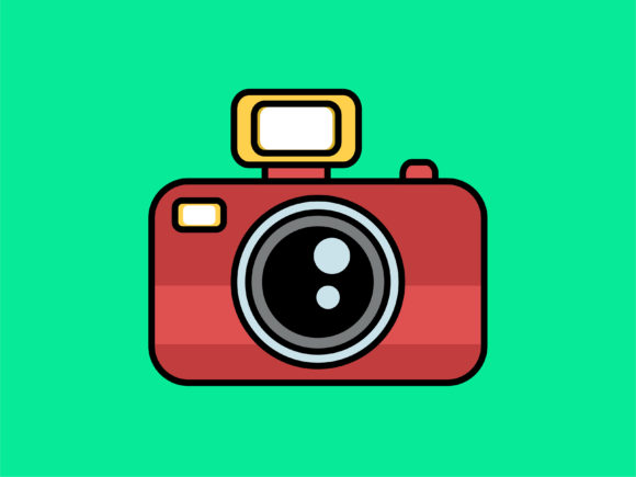 Download Free Icon Photo Camera Full Color Outline Graphic By Meandmydate for Cricut Explore, Silhouette and other cutting machines.