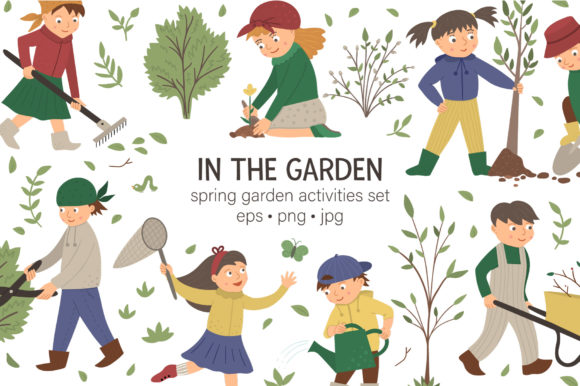Download Free In The Garden Graphic By Lexiclaus Creative Fabrica for Cricut Explore, Silhouette and other cutting machines.