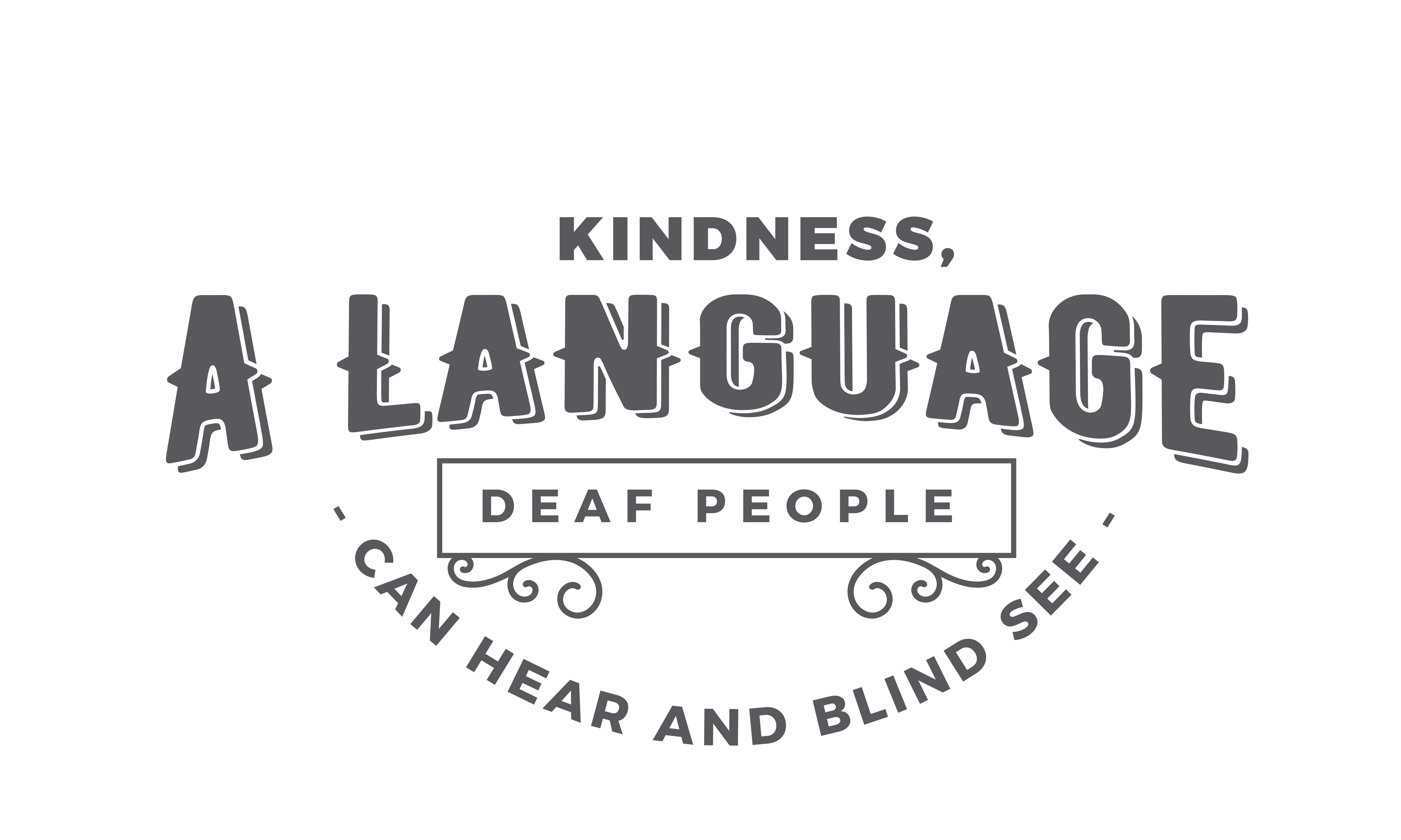 Download Free Kindness A Language Deaf People Graphic By Baraeiji Creative for Cricut Explore, Silhouette and other cutting machines.