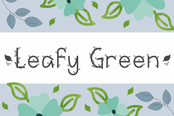 Print on Demand: Leafy Green Decorative Font By nuraisyahamalia1729