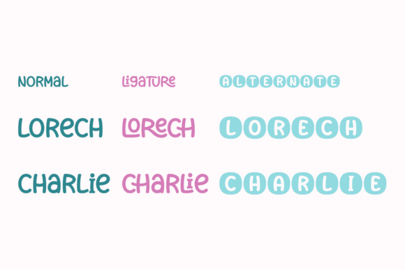 Download Free Lorech Font By Jasm 7ntypes Creative Fabrica for Cricut Explore, Silhouette and other cutting machines.