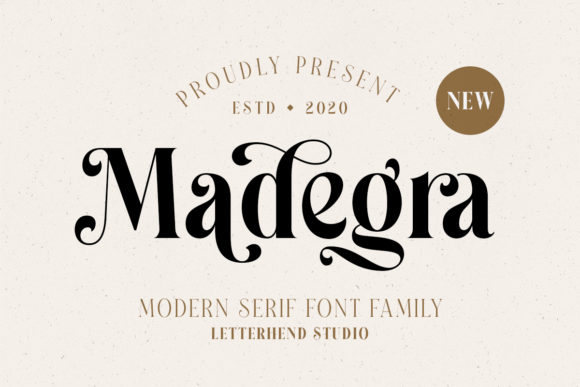 Print on Demand: Madegra Serif Font By letterhend - Image 1