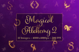 Print on Demand: Magical Alchemy 2 - Background Images Graphic Backgrounds By SapphireXDesigns