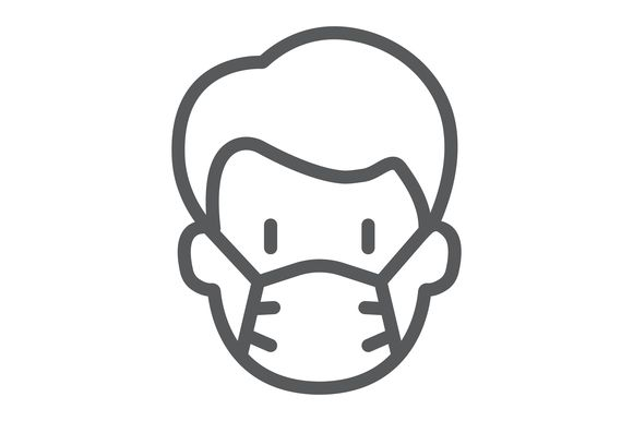 Download Free Man With Medical Mask Graphic By Amin Yusifov Creative Fabrica for Cricut Explore, Silhouette and other cutting machines.