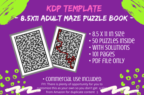 Download Free Maze Puzzle Book For Kdp Adult Books Graphic By Tomboy Designs SVG Cut Files