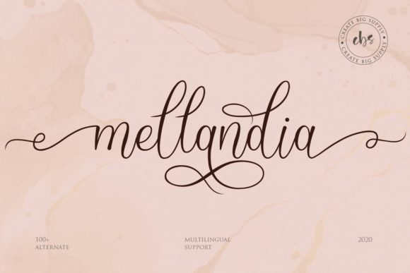 Print on Demand: Mellandia Script & Handwritten Font By Create Big Supply