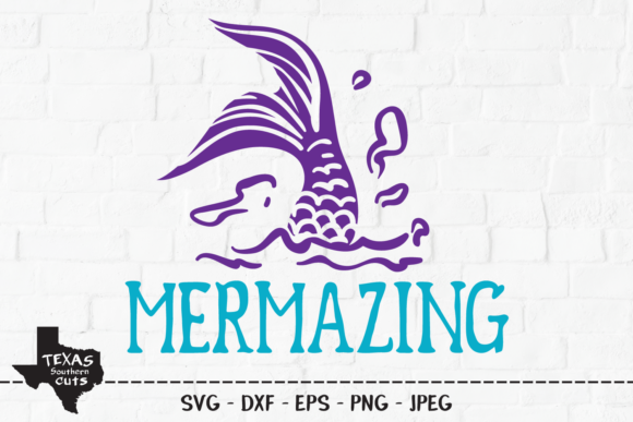 Print on Demand: Mermazing - Summer Shirt Design Graphic Crafts By texassoutherncuts