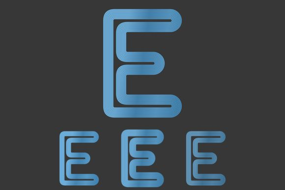 Download Free 1 Blue Letter E Designs Graphics for Cricut Explore, Silhouette and other cutting machines.