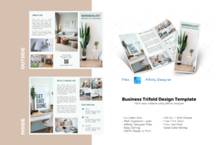 Download Free Minimal Interior Trifold Template Graphic By Rivatxfz Creative Fabrica for Cricut Explore, Silhouette and other cutting machines.