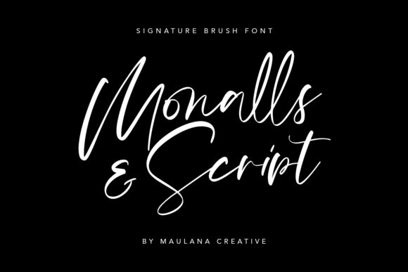 Download Free Monalls Font By Maulana Creative Creative Fabrica for Cricut Explore, Silhouette and other cutting machines.
