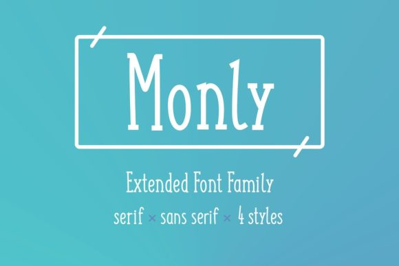 Print on Demand: Monly Display Font By krisjanis