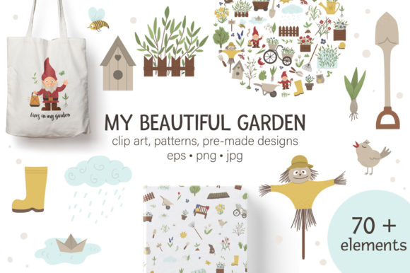 My Beautiful Garden Graphic Illustrations By lexiclaus