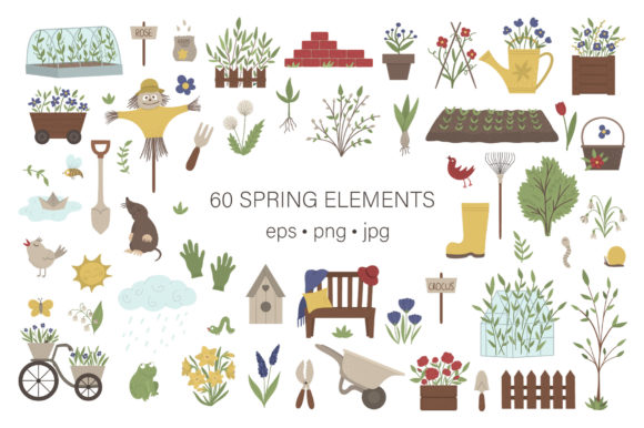 Download Free My Beautiful Garden Graphic By Lexiclaus Creative Fabrica for Cricut Explore, Silhouette and other cutting machines.