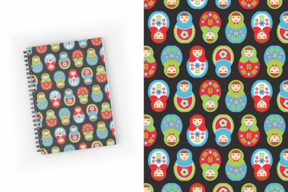 Download Free Nesting Dolls And Flowers Pattern Pack Graphic By Tl Digital for Cricut Explore, Silhouette and other cutting machines.