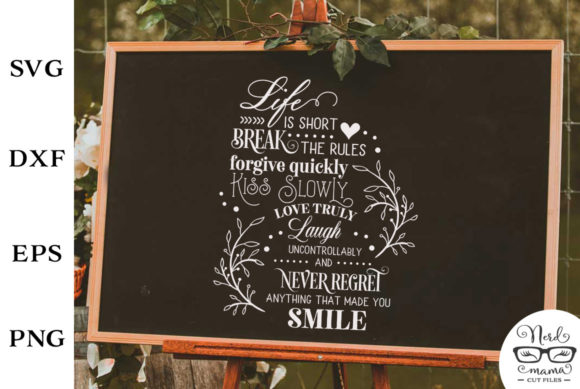 Print on Demand: Never Regret Anything Graphic Crafts By Nerd Mama Cut Files