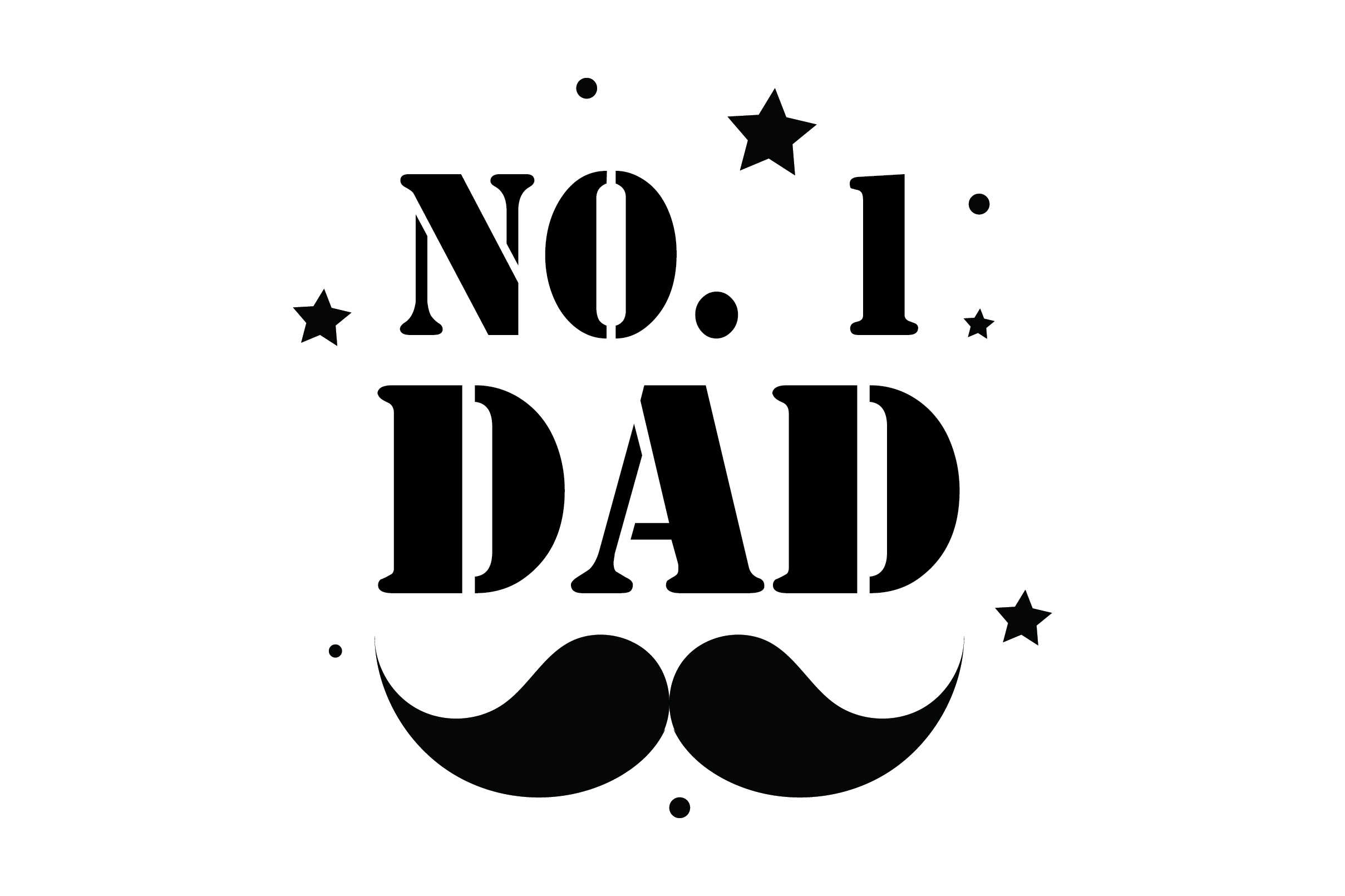 Download Free No 1 Dad Quote Graphic By Fauzidea Creative Fabrica for Cricut Explore, Silhouette and other cutting machines.