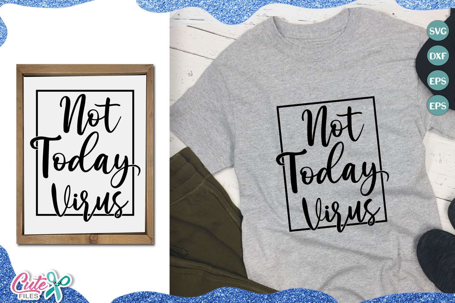 Download Free Not Today Virus For Craftters Graphic By Cute Files Creative for Cricut Explore, Silhouette and other cutting machines.
