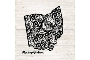 Download Free Ohio Mandala Oh Floral Lace Graphic By Mockup Station for Cricut Explore, Silhouette and other cutting machines.