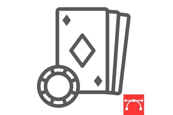 Download Free Online Casino Line Icon Graphic By Amin Yusifov Creative Fabrica for Cricut Explore, Silhouette and other cutting machines.