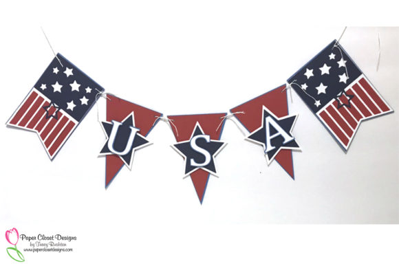 Print on Demand: Patriotic July 4th USA Banner Graphic 3D SVG By rushton_tracy - Image 2