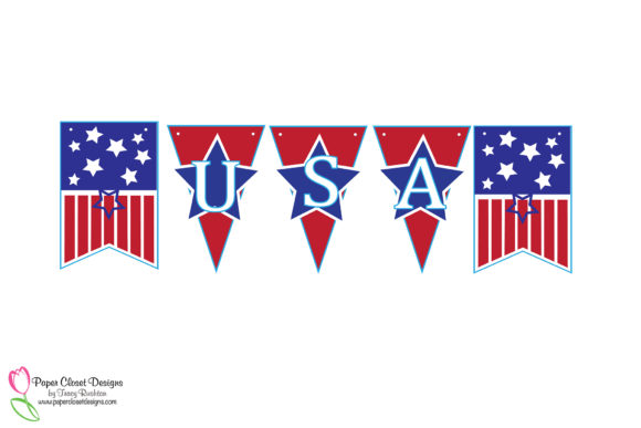 Print on Demand: Patriotic July 4th USA Banner Graphic 3D SVG By rushton_tracy - Image 3