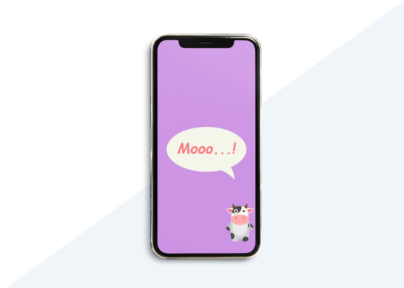 Download Free Phone Wallpaper Cow Purple Graphic By Studioisamu Creative Fabrica for Cricut Explore, Silhouette and other cutting machines.
