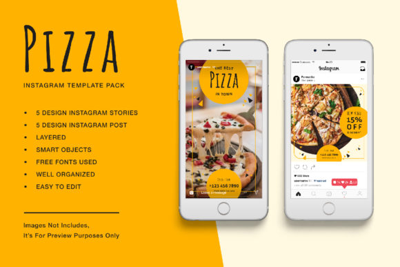 Download Free Pizza Instagram Stories And Post Graphic By Formatikastd for Cricut Explore, Silhouette and other cutting machines.