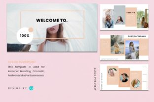 Powerpoin Template - Woman Graphic Presentation Templates By 57creative 2