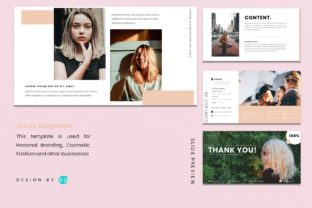 Powerpoin Template - Woman Graphic Presentation Templates By 57creative 5