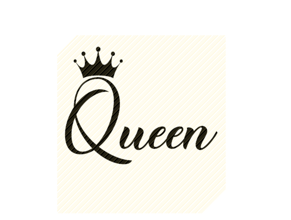 Download Free Queen Quote Graphic Graphic By Svgplacedesign Creative Fabrica for Cricut Explore, Silhouette and other cutting machines.