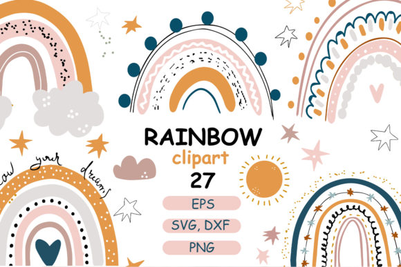 Download Free Rainbow Baby Pastel Clipart Graphic By Zolotovaillustrator for Cricut Explore, Silhouette and other cutting machines.