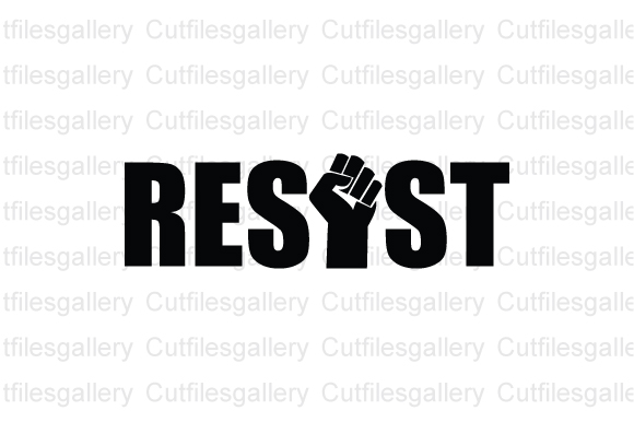 Download Free Resist Black Lives Matter Graphic By Cutfilesgallery Creative for Cricut Explore, Silhouette and other cutting machines.