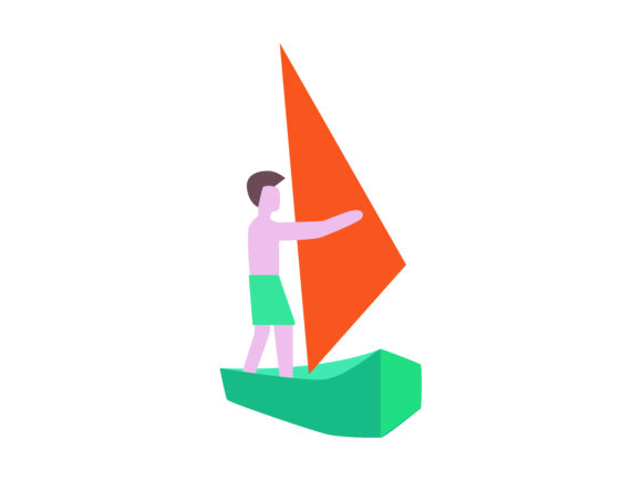 Download Free Sail Windsurfing Extreme Sport Icon Graphic By 1riaspengantin for Cricut Explore, Silhouette and other cutting machines.