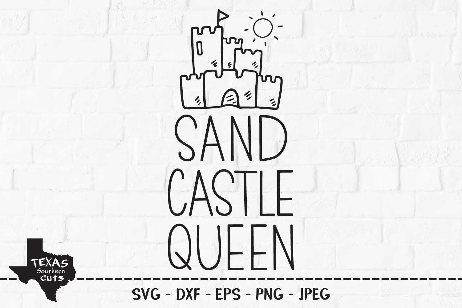Download Free Sand Castle Queen Summer Design Graphic By Texassoutherncuts for Cricut Explore, Silhouette and other cutting machines.