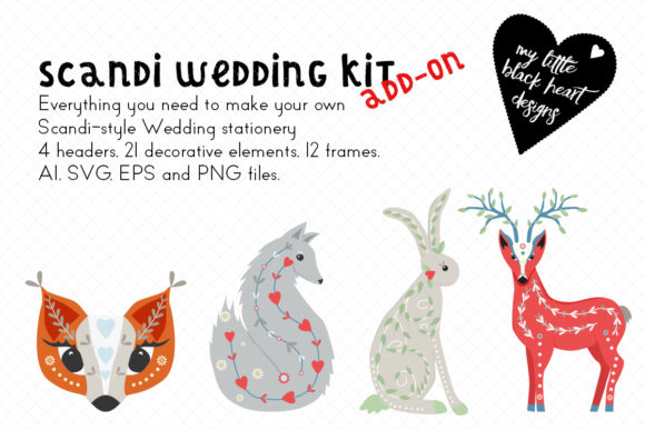 Download Free Scandi Animals Add On To Wedding Kit Graphic By My Little for Cricut Explore, Silhouette and other cutting machines.